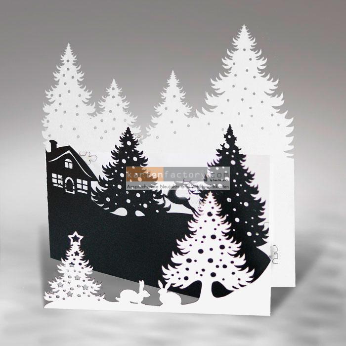 tolle karte mit sehr speziellem effekt weihnachtskarte. Black Bedroom Furniture Sets. Home Design Ideas