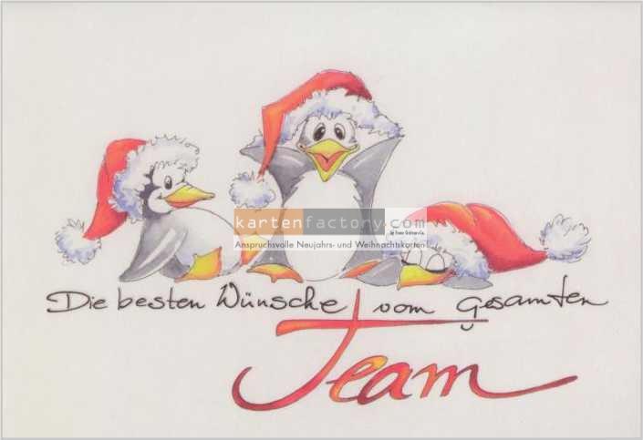 weihnachtskarten teamwork pinguine. Black Bedroom Furniture Sets. Home Design Ideas